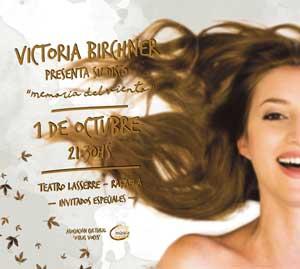 Victoria Birchner en teatro Laserre
